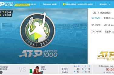 Wirtualny tenis relacja z meczów z ATP masters 1000